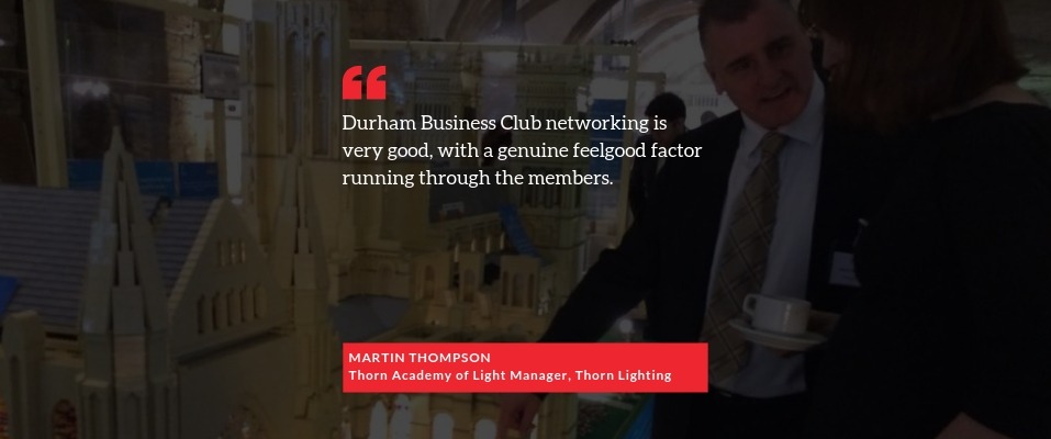 Testimonial from DBC member Martin Thompson of Thorn Lighting