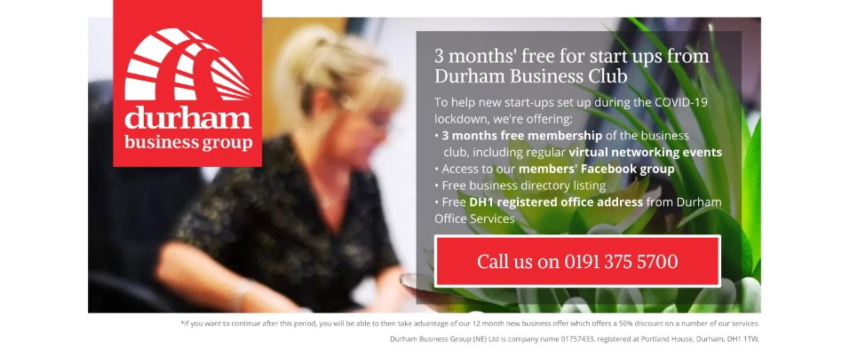 Durham Business Group offer for COVID-19 start-ups