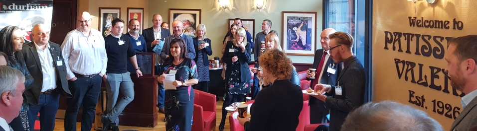 Durham Business Club breakfast networking event at Patisserie Valerie in Durham