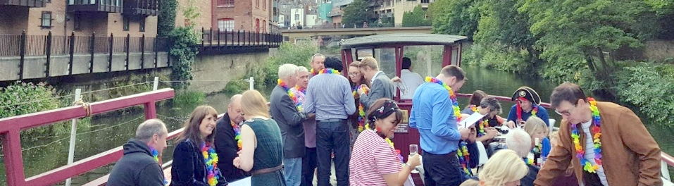 Durham Business Club 2018 summer social on the Prince Bishops River Cruiser in Durham