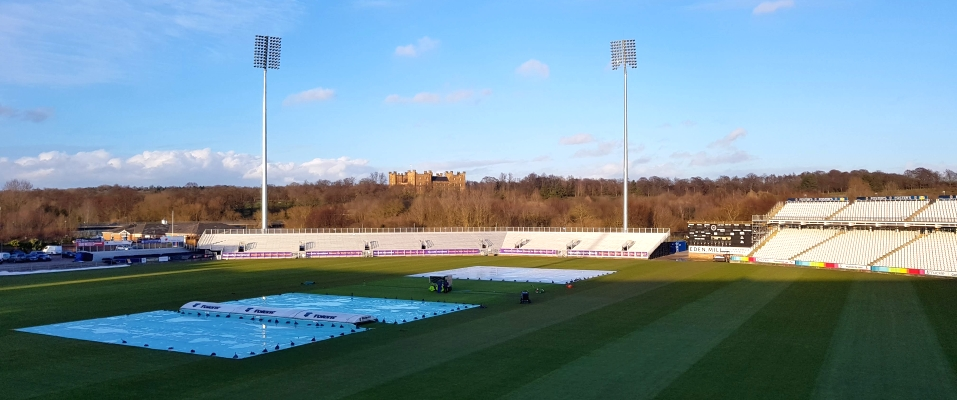 Durham Cricket ground from the appropriately named Castle View Suite