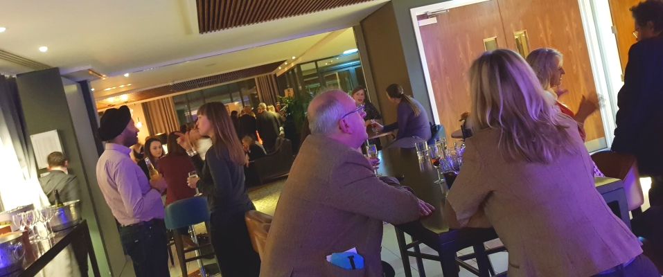 Club members enjoying relaxed networking at the Crowne Plaza in Newcastle in February