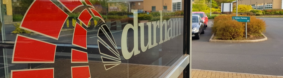 Durham Business Group logo at Portland House, Durham