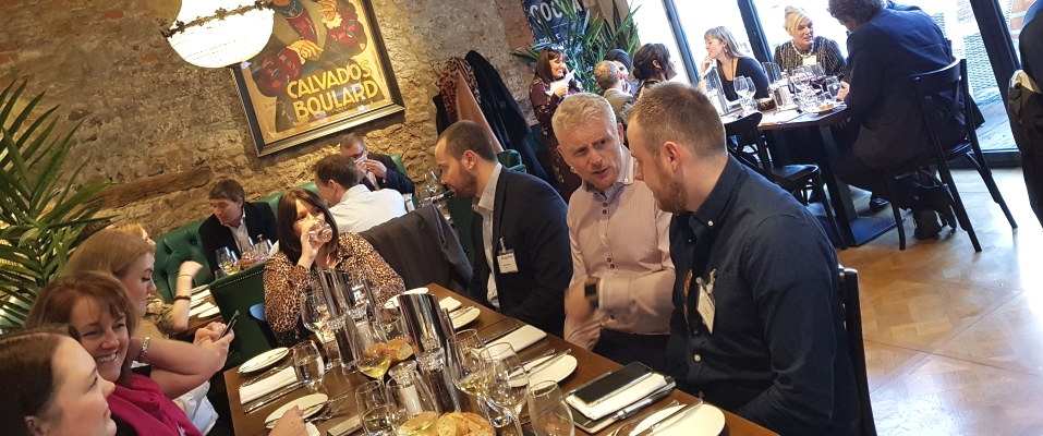 A previous Executive Group lunch at the Impeccable Pig in Sedgefield